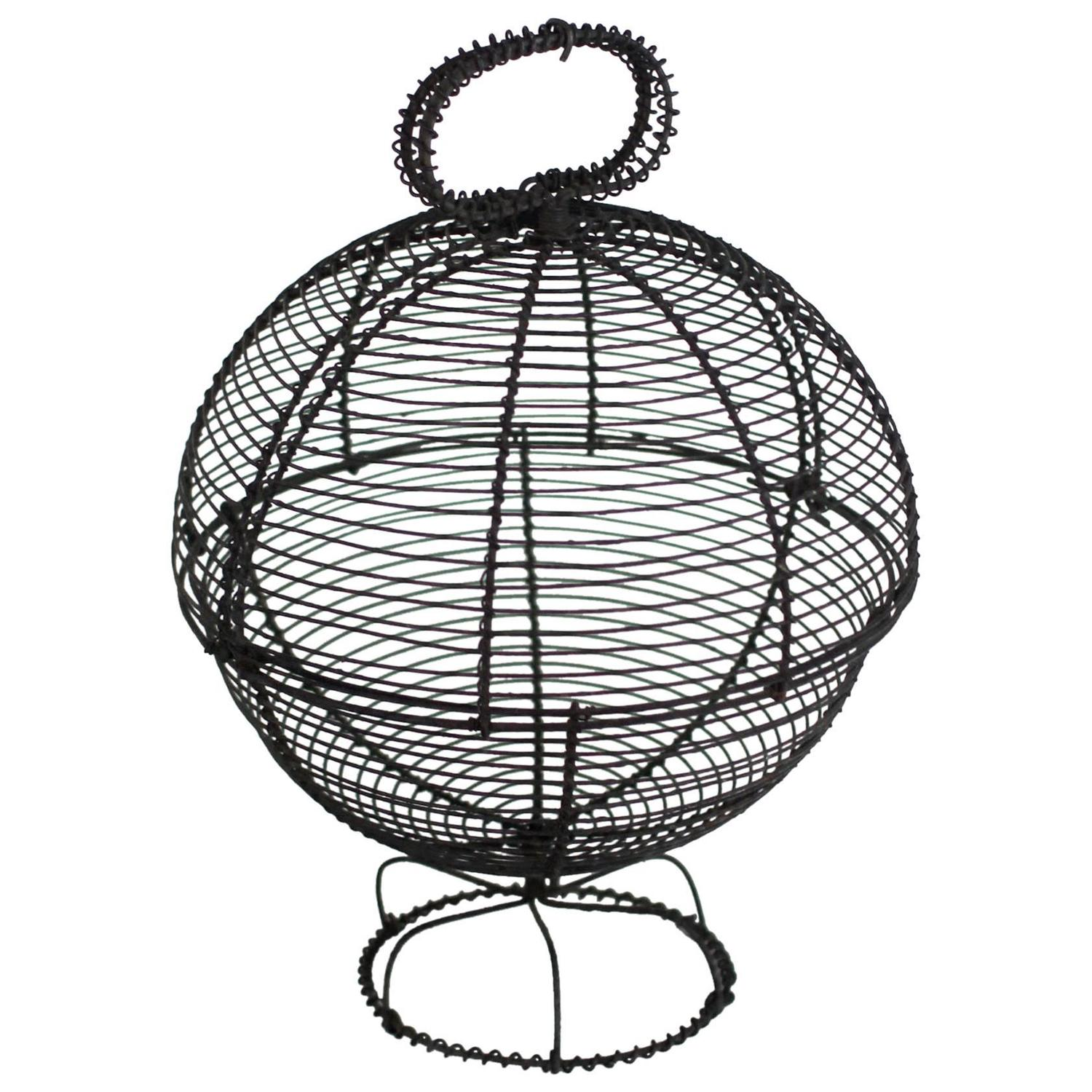 Wire Basket of Rare Form For Sale at 1stdibs