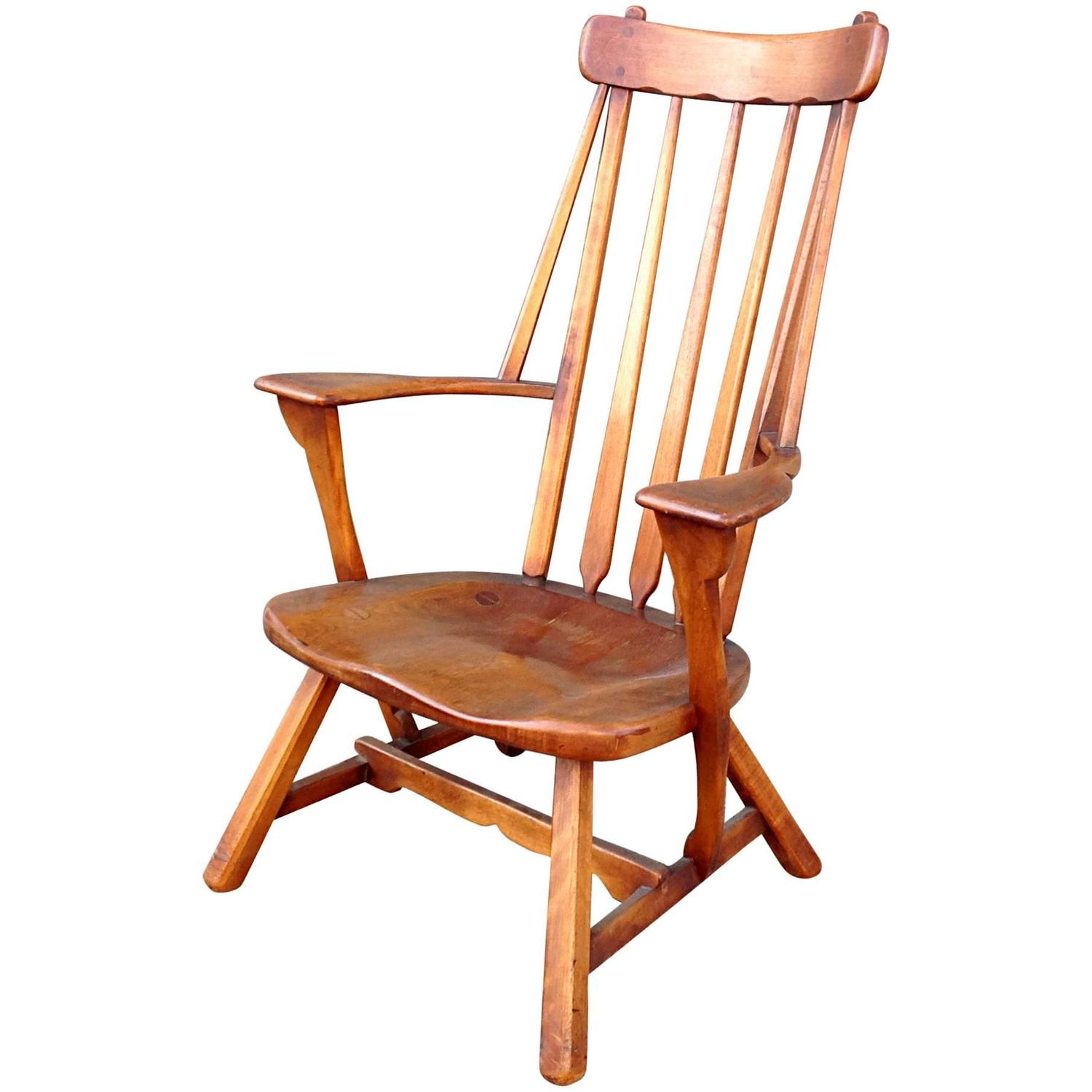 z shaped high chair ebay linen covers modernist maple back armchair by sykes for sale at