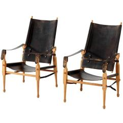 Leather Safari Chair Chairs With Storage In Seat Original Black Saddle Denmark