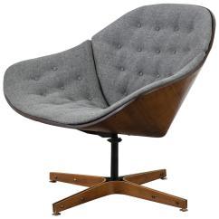 Swivel Chair Mid Century Brown Moon Vintage Lounge By George