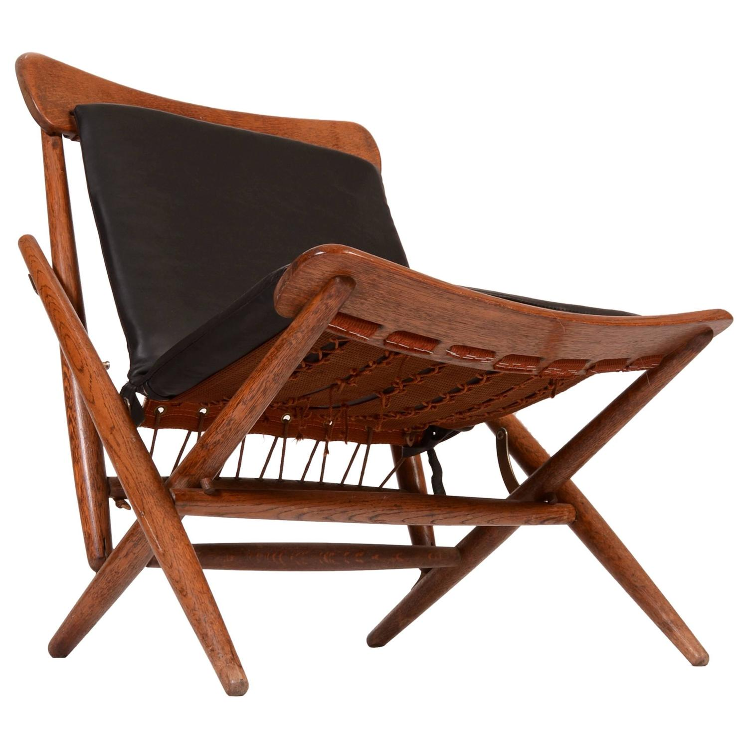 folding chair leather cover hire in bournemouth danish teak and side for sale at 1stdibs