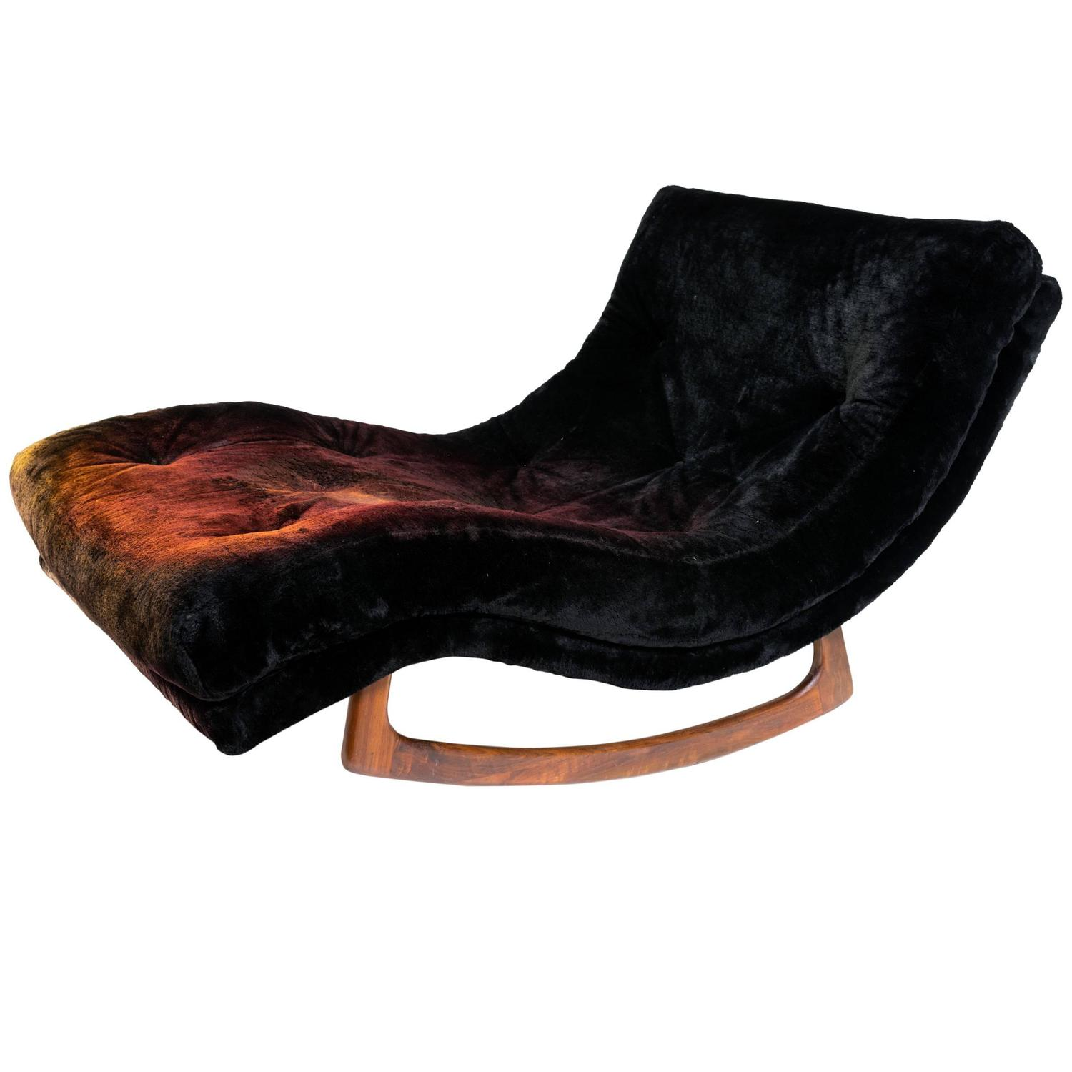 adrian pearsall rocking chair office caster wheels wave chaise rocker for craft at 1stdibs