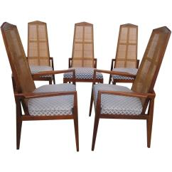 Cane Dining Chairs For Sale Make Up Chair 5 Walnut Foster And Mcdavid Back Mid