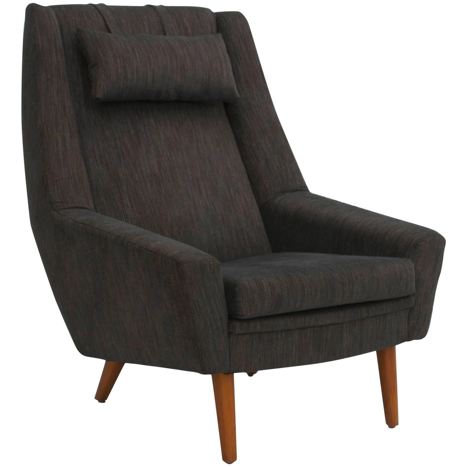 High Back Lounge Chair Scandinavian Modern High Back Lounge Chair At 1stdibs
