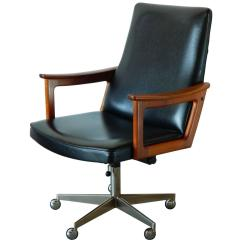 Desk Chair Modern Office Casters For Carpet Mid Century Danish Teak In The Style Of