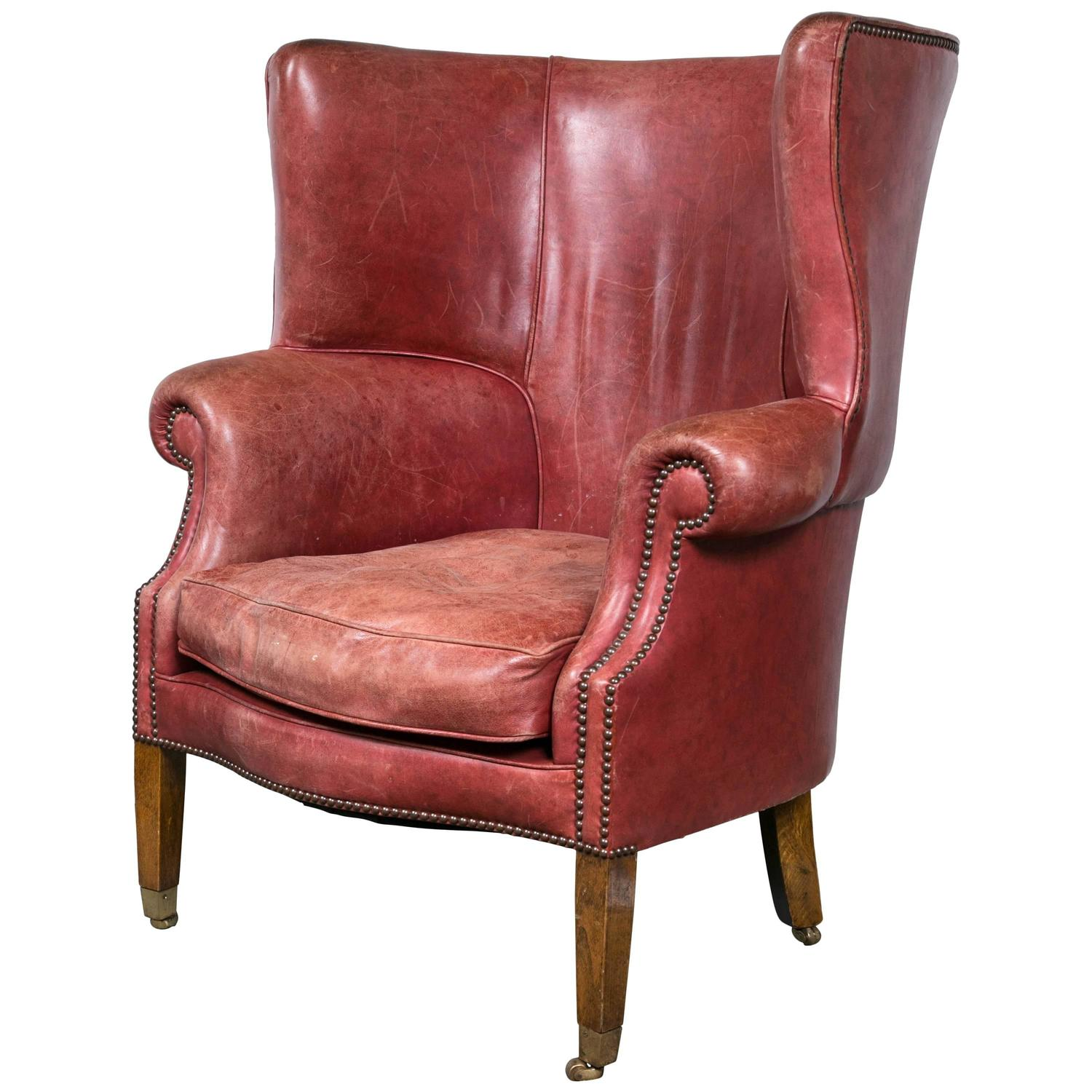red wing chair pier one parsons slipcover leather at 1stdibs