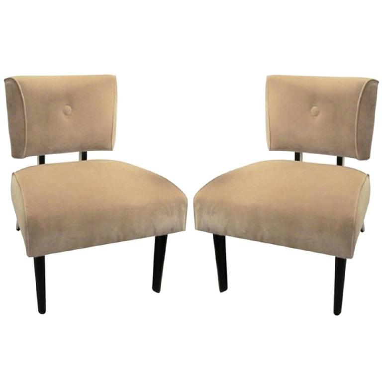 modern slipper chair covers in bulk pair of mid century chairs for sale at 1stdibs