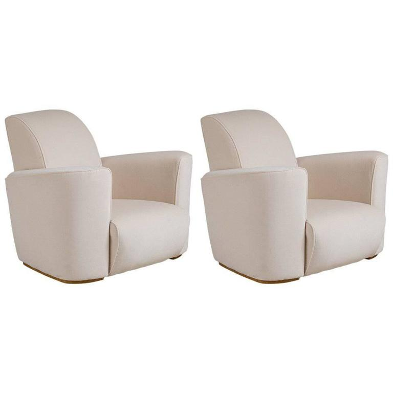art deco style club chairs hon smartlink chair pair of by talisman bespoke for sale at
