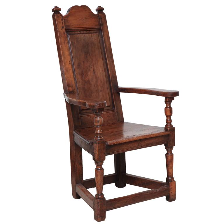 rush seat chairs rocking chair old fashioned early 18th century french walnut with paneled back, ardennes, circa 1700 at 1stdibs