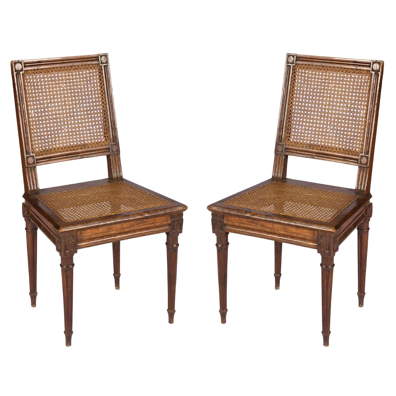 cane chairs for sale high back leather dining australia pair of louis xvi at 1stdibs