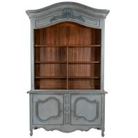 Country French Two-Part Cabinet at 1stdibs