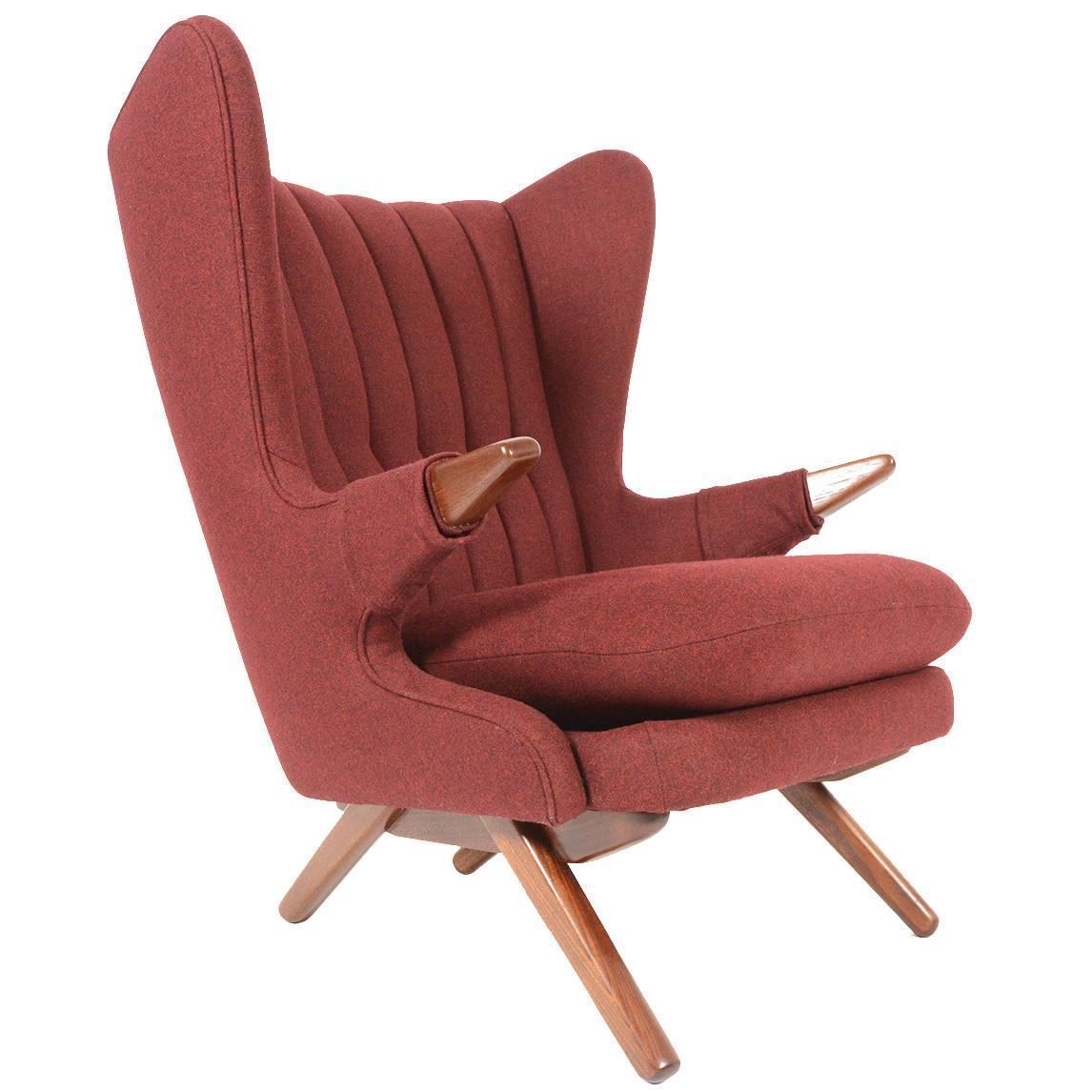 papa bear chair koken barber for sale svend skipper model 91 in burgundy