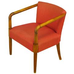 Chair With Desk Arm Mission Style Chairs For Sale Mahogany And Crimson Upholstered Slope