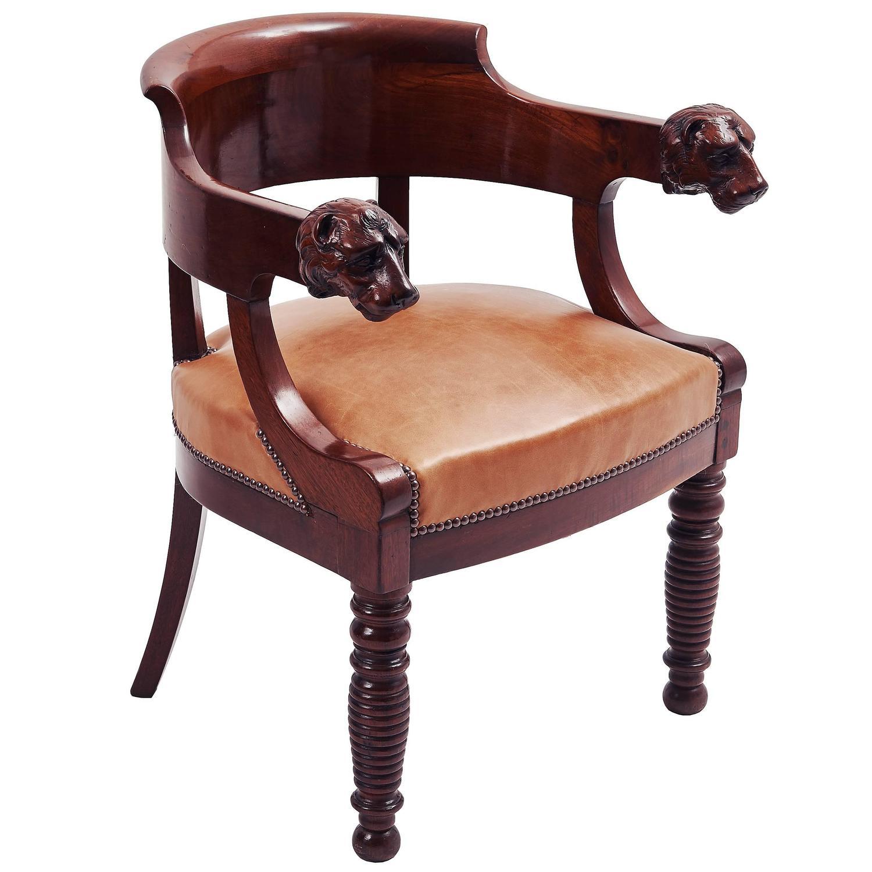 desk chair utm childrens sofa chairs french louis philippe walnut tub circa 1845 at