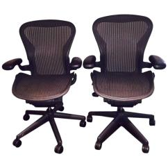 Ergonomic Chair Miller Rustic Chairs For Sale Pair Of Herman Aeron At 1stdibs