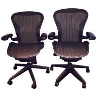 Pair of Herman Miller Aeron Ergonomic Chairs at 1stdibs