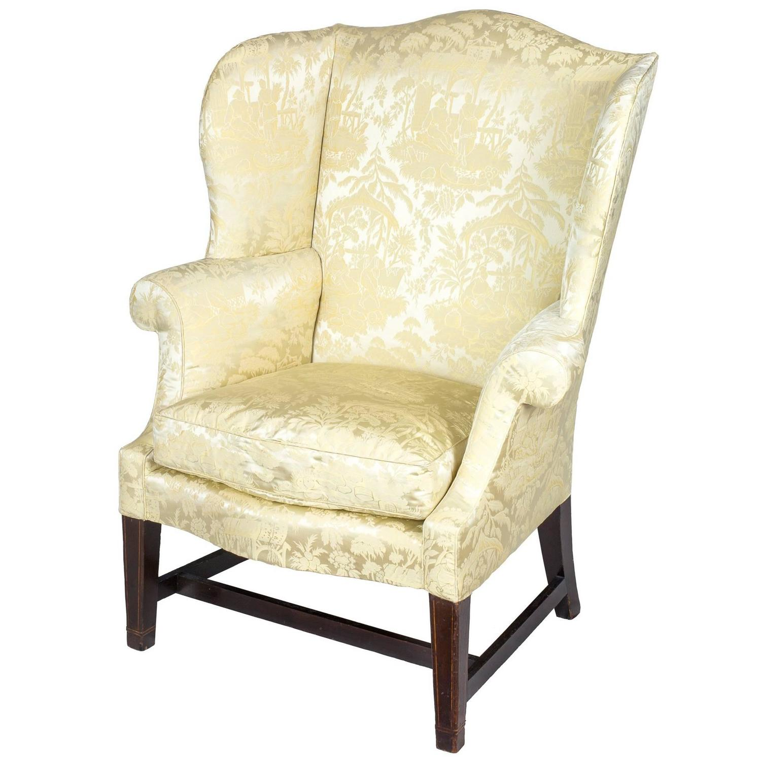 Wing Back Chairs Small Hepplewhite Inlaid Mahogany Wing Chair Philadelphia Israel Sack
