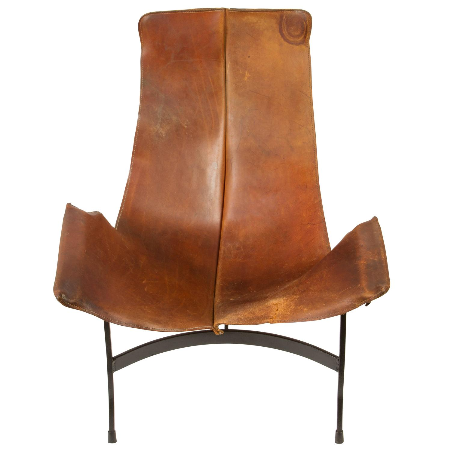 leather sling chairs ikea karlstad chair cover by william katavolos for