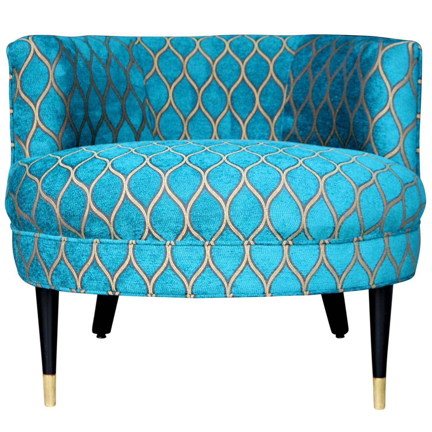 mid century barrel dining chair tranquil ease lift power supply back armchair with peacock arabesque