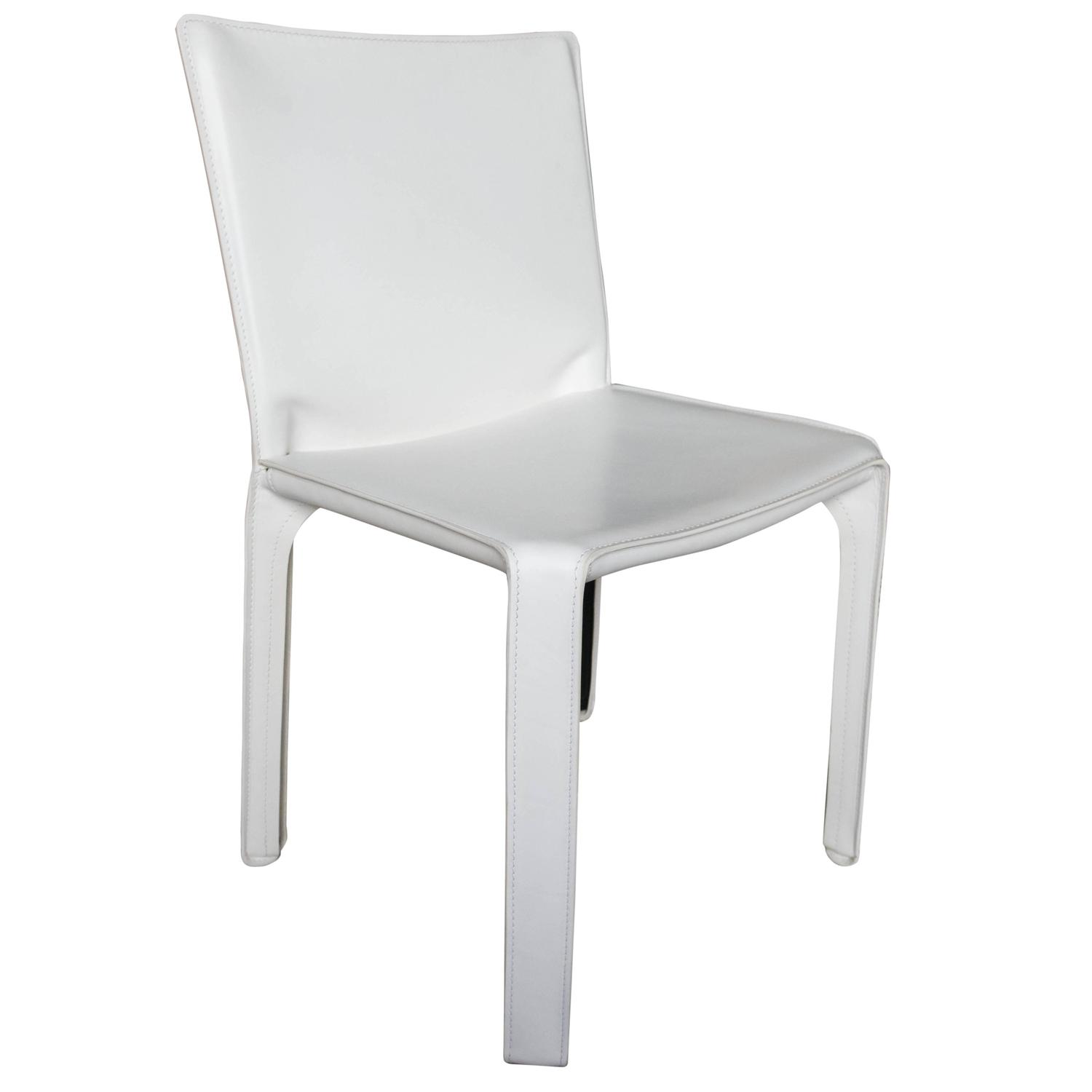 white leather chairs for sale lawn heavy people cassina cab chair in at 1stdibs