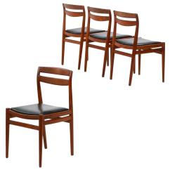 Mid Century Danish Chair Covers For Car Four Modern Teakwood Side Chairs