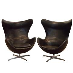 Vintage Egg Chair Best Gaming Under 100 Two Chairs By Arne Jacobsen Denmark At 1stdibs