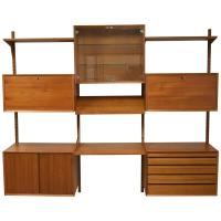 Mid-Century Modern Adjustable Wall Shelving Unit For Sale ...