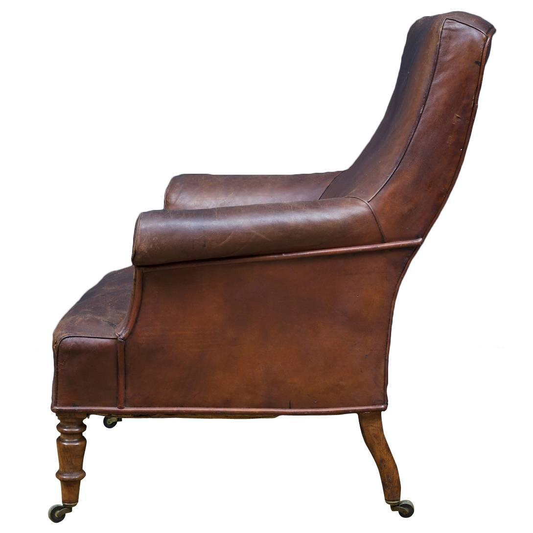Leather Arm Chairs Brown Leather Armchair At 1stdibs