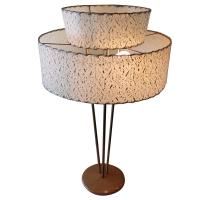 Gerald Thurston Stiffel 1950s Table Brass and Wood Lamp ...