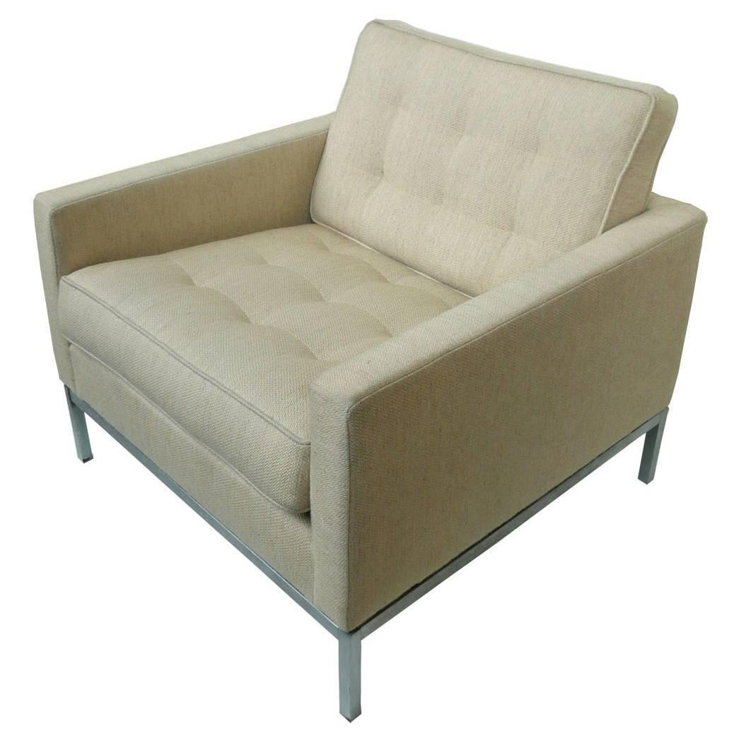 cream club chair swing pune beige wool by florence knoll for sale at