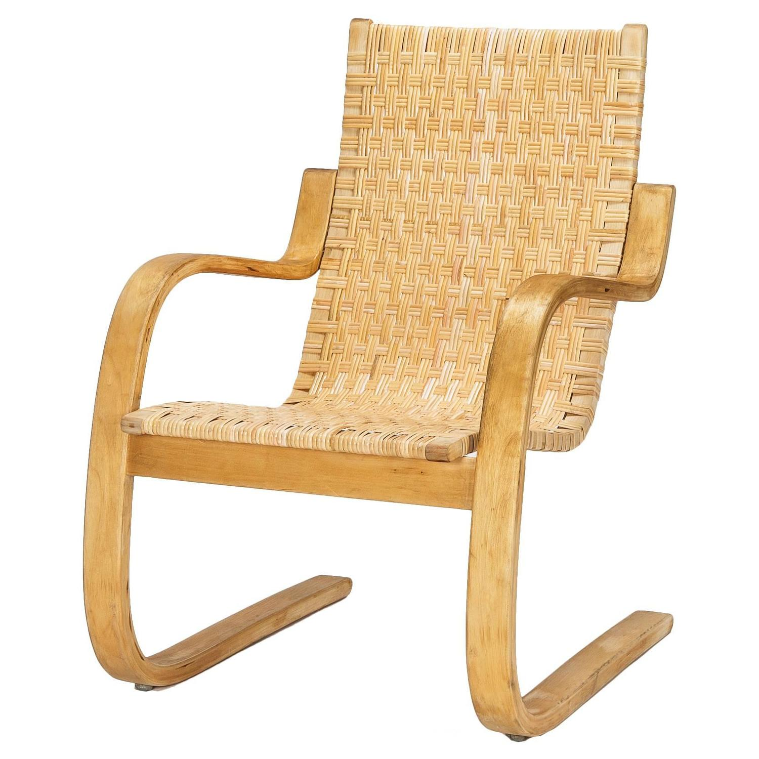 Aalto Chair Alvar Aalto Cantilever Chair 406 By Artek In Birch And