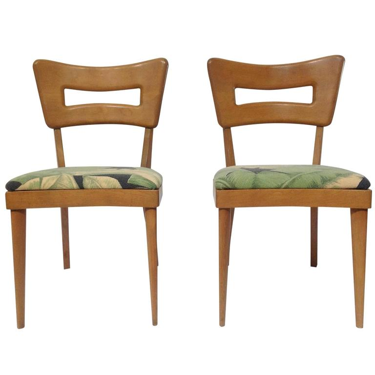 heywood wakefield dogbone chairs bubble club chair replica pair of mid century modern dog biscuit dining