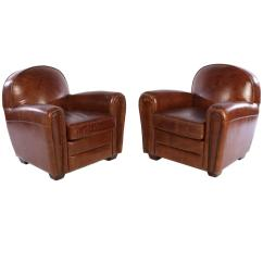 Art Deco Style Club Chairs Dining Chair Covers Amazon Uk Pair Of French Leather At 1stdibs