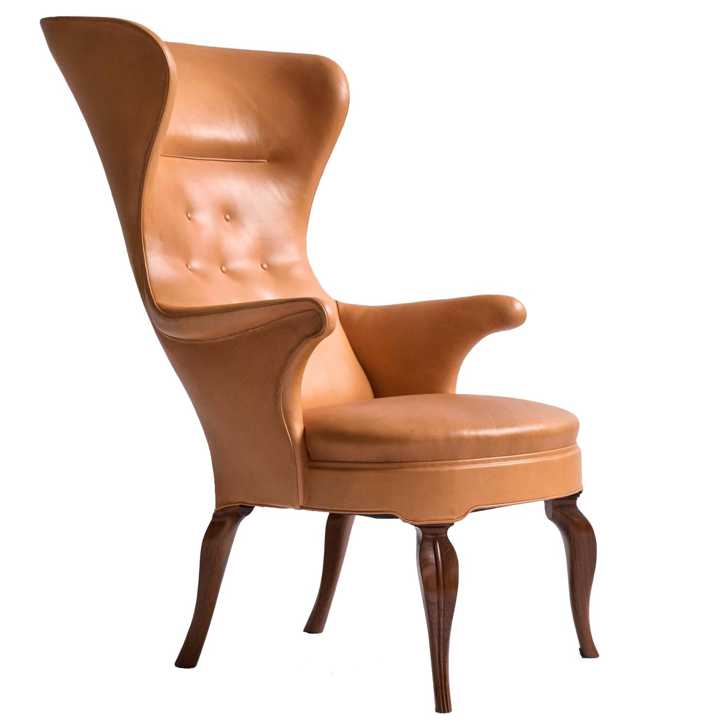 High Back Wing Chair Frits Henningsen High Back Wing Chair For Sale At 1stdibs