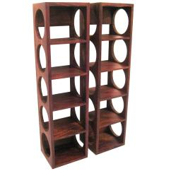 Wall Mounted Chair Rack Plastic Covers For Living Room Danish Modern Rosewood Set Of Wine Racks At