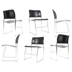 David Rowland Metal Chair Black And White Styling 10 All Early 1960s Edition 40 4 Chairs For Howe Denmark