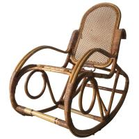 Vintage Bamboo Rocking Chair, 1960s For Sale at 1stdibs