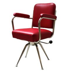 Red Leather Desk Chair Notre Dame Office Chrome And For Sale At 1stdibs