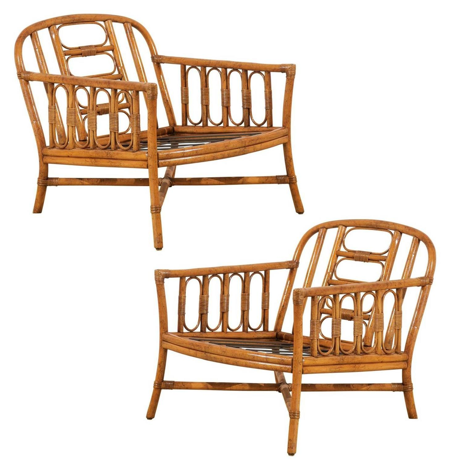 ficks reed chair making dining room covers lovely pair of vintage loungers by for sale at