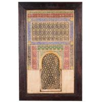 Spanish Plaster Wall Plaque Depicting the Alhambra Moorish ...