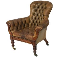 Tufted Leather Wingback Chair Contemporary Dining Room Chairs Uk English Of From The George