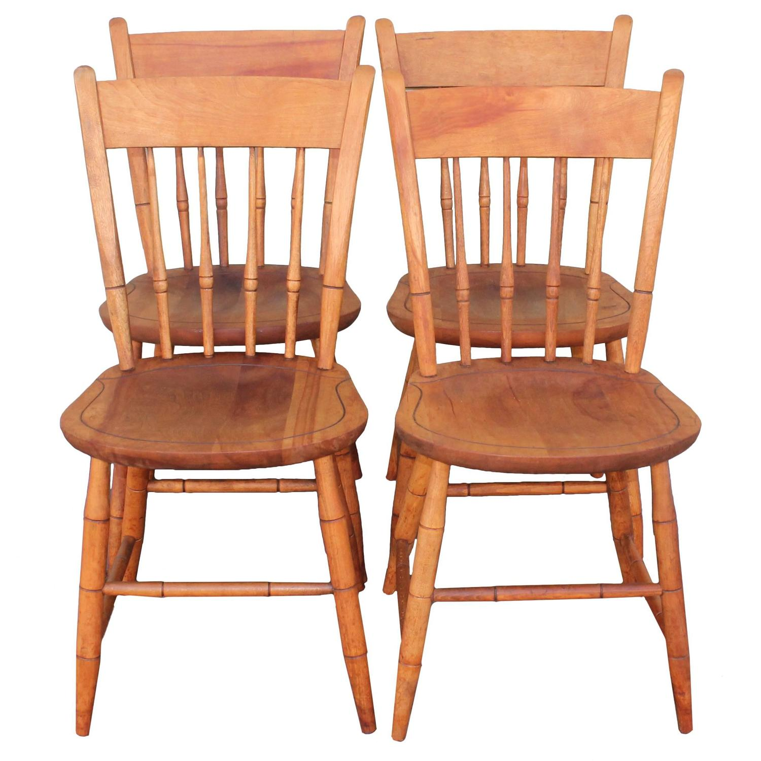 nichols and stone dining chairs french country chair cushions signed thumb back windsor set