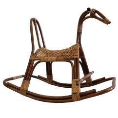 Horseshoe Rocking Chair Round Target Swedish Children 39s Horse Rocker At 1stdibs