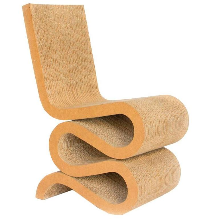 frank gehry cardboard chairs graco duodiner high chair greenhill 1972, gehry, wiggle side at 1stdibs
