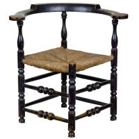 Painted Maple William and Mary Maple Corner Chair or ...