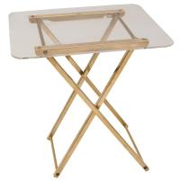 Italian Mid Century Modern Lucite and Brass Folding Table ...