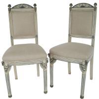 Pair of Painted Gray White and Blue Italian Venetian Side ...