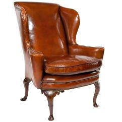 Leather Wingback Chairs Cheap White Kitchen Superb Quality 19th Century Antique Wing Chair At