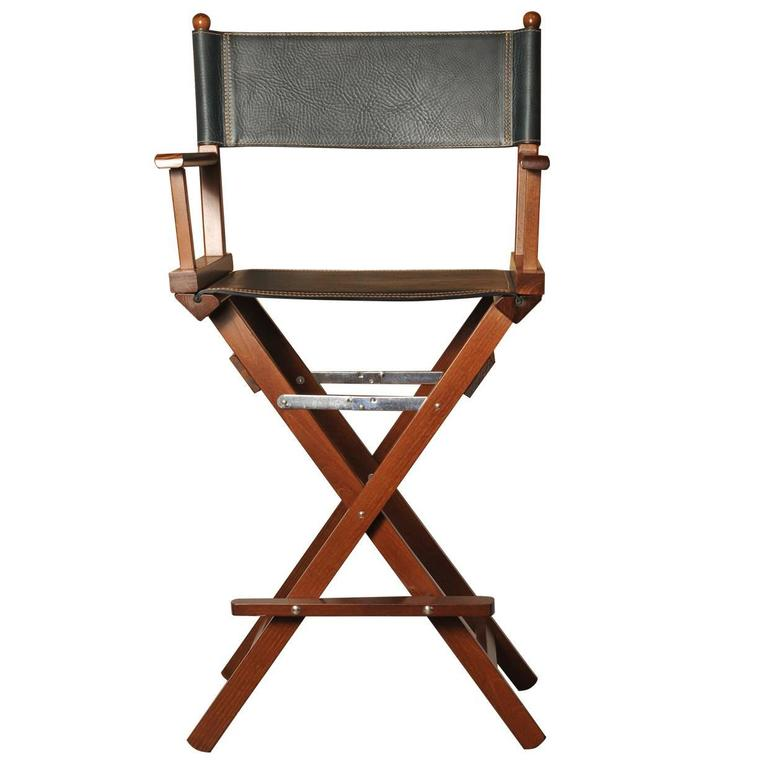 leather directors chair graco adjustable high black director s for sale at 1stdibs