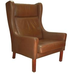 Modern Wingback Chairs For Sale Massage Home Leather Wing Chair In Danish Børge Mogensen Style